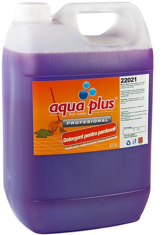 Detergent pentru pardoseli cu parfum de lavanda si efect antimicrobian.