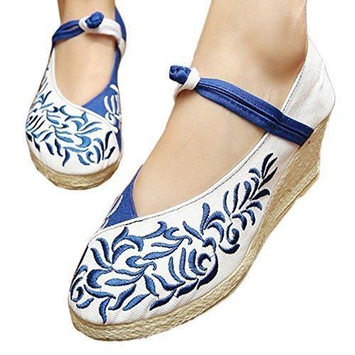Oferta: 27.99€ Dto: -10%. Comprar Ofertas de Bailarinas Mujer Baratas Elegantes Zapatos Bordados con Cuñas Bajas de Porcelana China 39 barato. ¡Mira las ofertas!