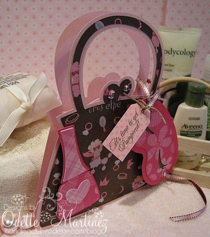 scrapbook purse birthday party invitations - Google Search