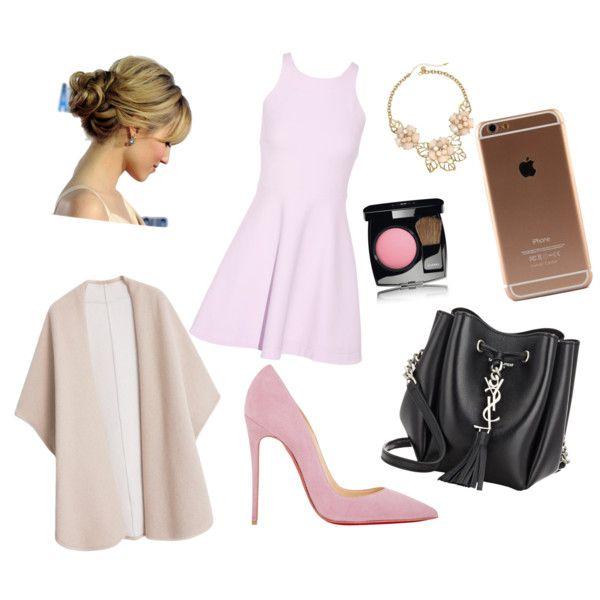 #Gilda by hanifahcandra on Polyvore featuring polyvore fashion style Elizabeth and James MANGO Christian Louboutin Yves Saint Laurent Gemma Simone Chanel