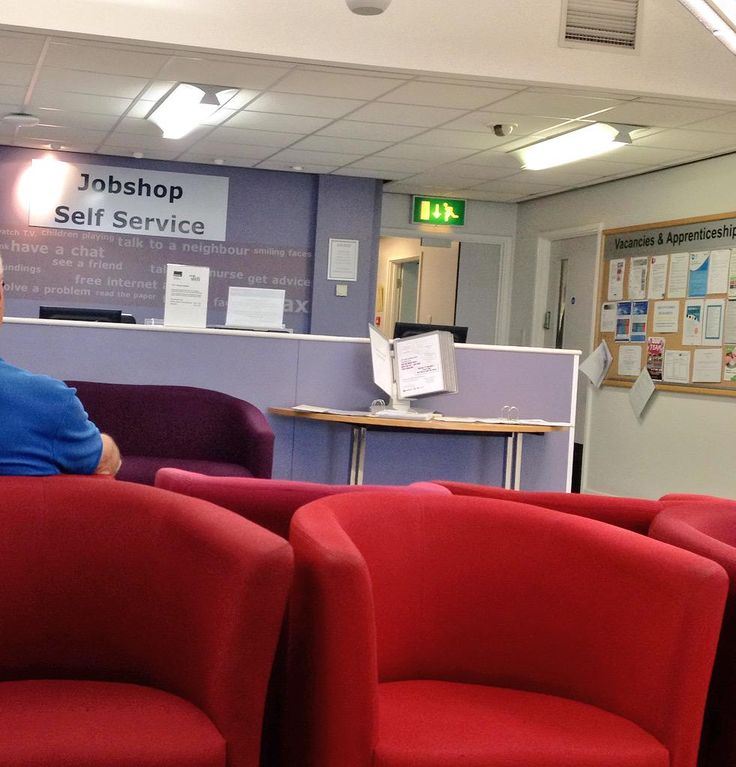 The modern NHS walk in - the waiting room for a doctor is also the job centre