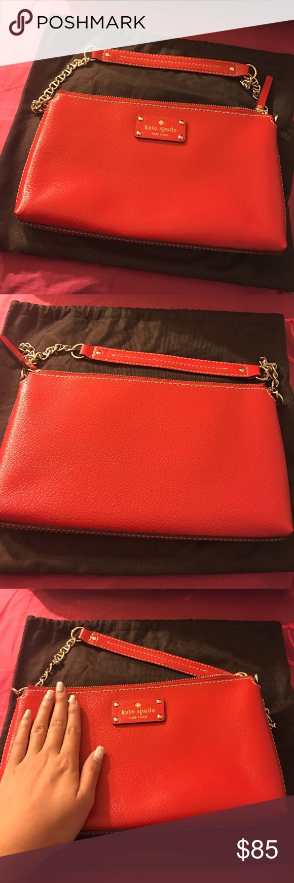 Kate spade red shoulder bag. Kate spade new without tag bag. Never used! It just sits in my closet ;) kate spade Bags Shoulder Bags