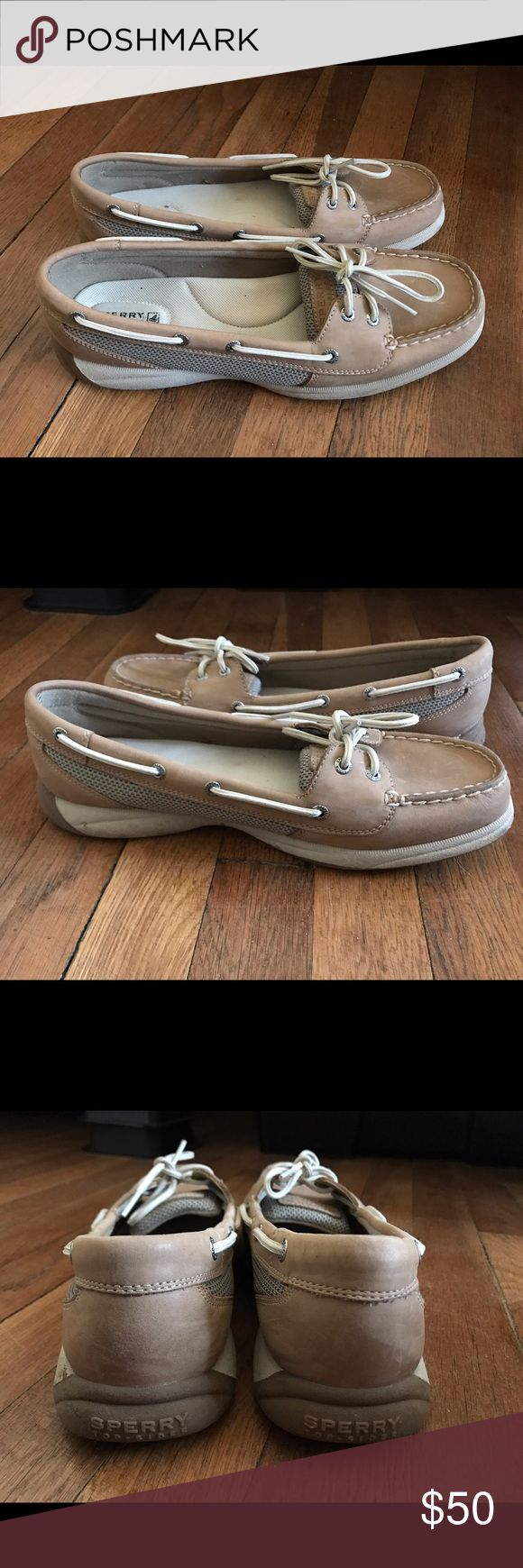 Sperry women's angelfish boat shoes Brand new, never worn, got as a gift but are a size too big. They have no scratches , scuffs, dirt, stains and bottoms are clean also super comfy :)) Sperry Top-Sider Shoes Sneakers