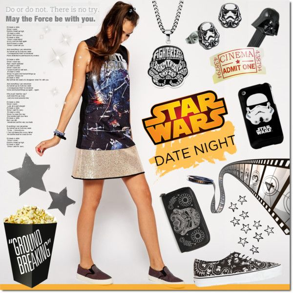 May the force be with you by justlovedesign on Polyvore featuring ASOS, Vans, Monday, Disney, movieNight and starwars