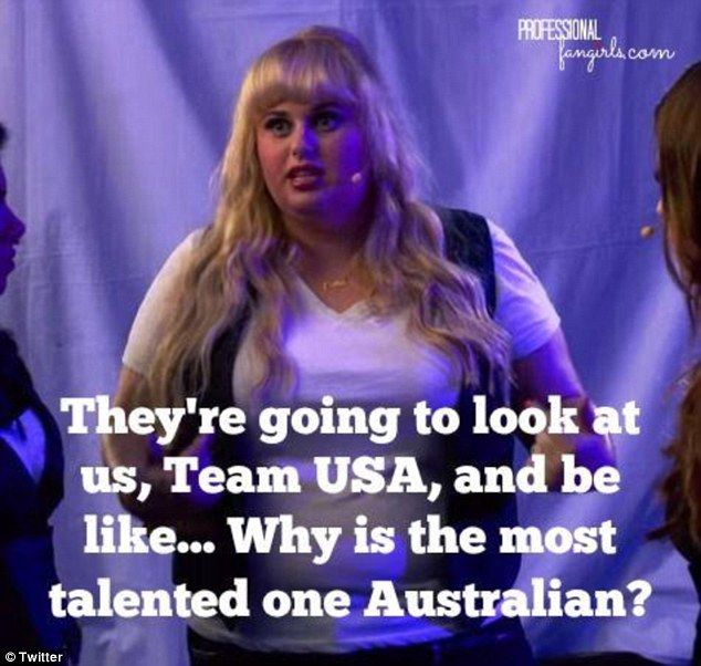 This meme shows that star of movie Pitch Perfect 2, Rebel Wilson, may no longer be the mos...