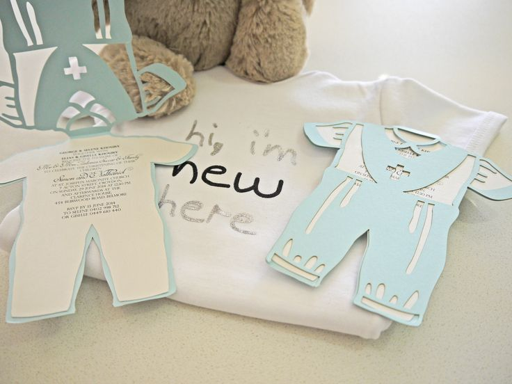 Sydney laser cut christening invitation - Custom colours avaliable - Can redesign for little girl