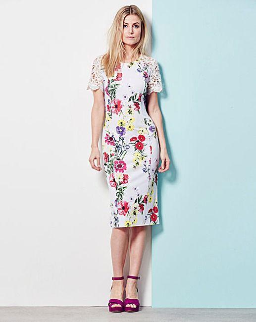 Lace Trim Shift Dress | Oxendales