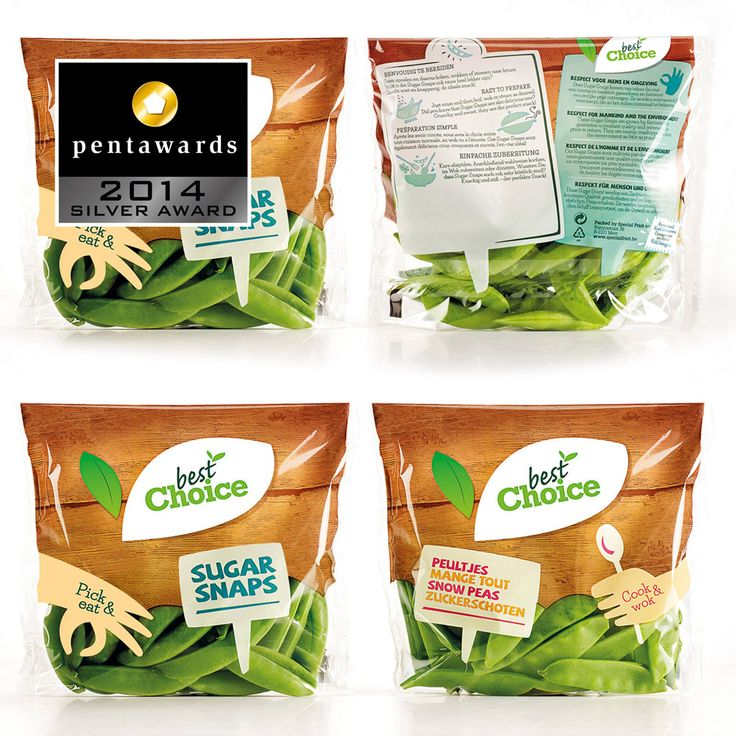 Silver Pentaward 2014 Food - Fruits and vegetables Brand: Best Choice Entrant: Quatre Mains Country: BELGIUM www.quatremains.be