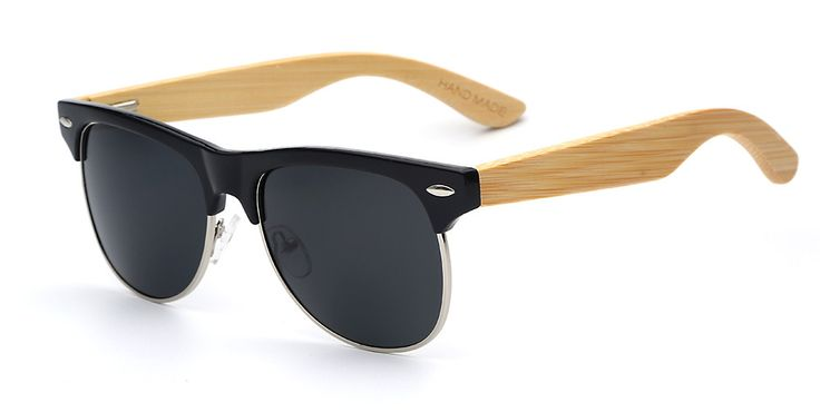 Totalglasses Men Rivet Wood Eyewear Maderia Oculos Flash Polarized Lens Bamboo Oculos with Spring Hinge Women Sunglasses