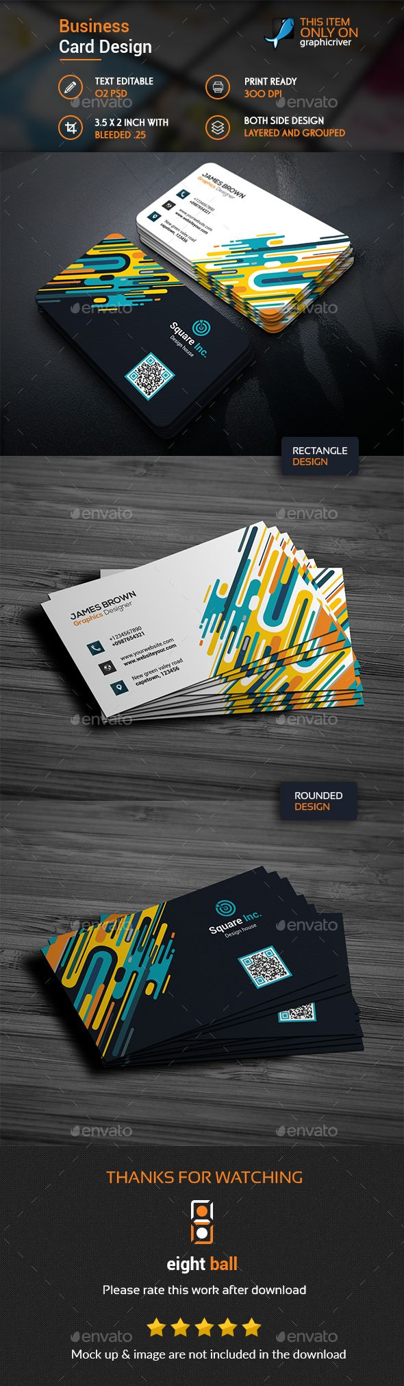 577 best business cards inspiration images on pinterest business abstract business card template reheart Choice Image
