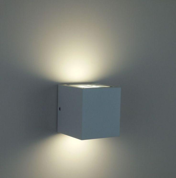 applique lampada da parete per esterno Bianco moderno illuminazione giardino Led