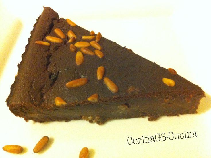 Torta paesana al cioccolato (papina)/ con pane e amaretti