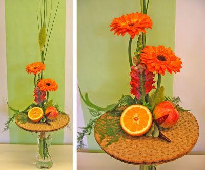 http://holmsundsblommor.blogspot.se/2008/05/bukett-till-bagare.html Knäckebröd, gerbera, lejongap, frukt