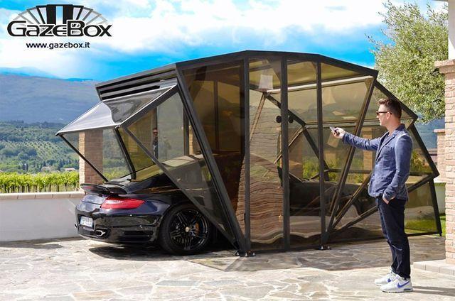 Alternative Car Multifunctional Gazebox Enclosed Carport Carport Garage Modern Gazebo