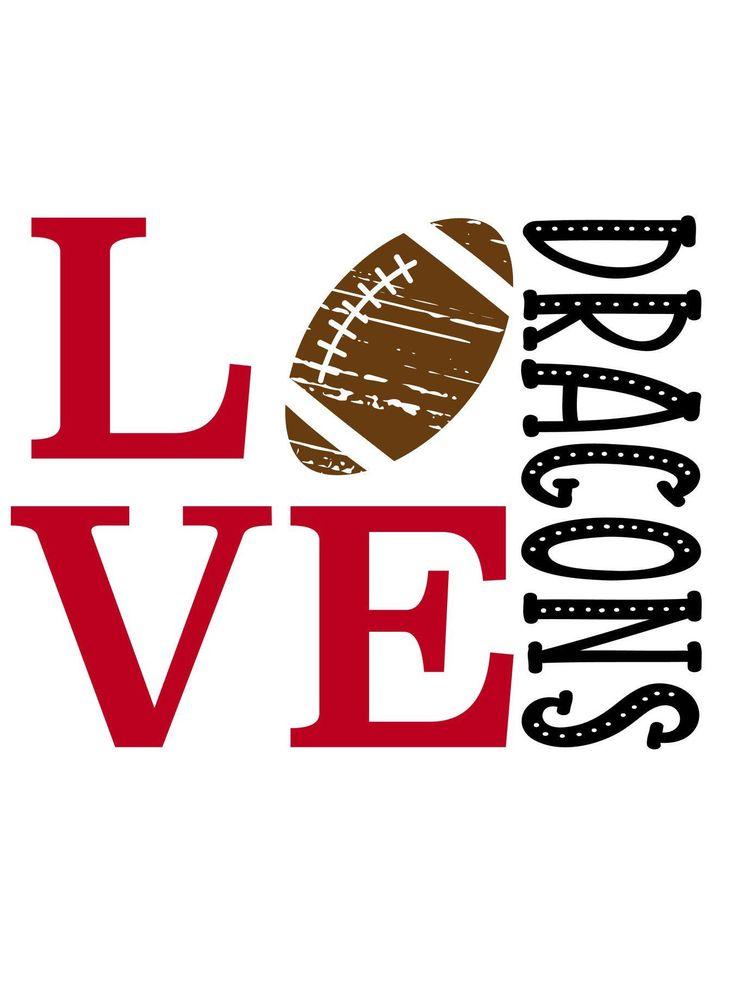 Download Love Dragons Football SVG   Svg, Baseball svg, Football