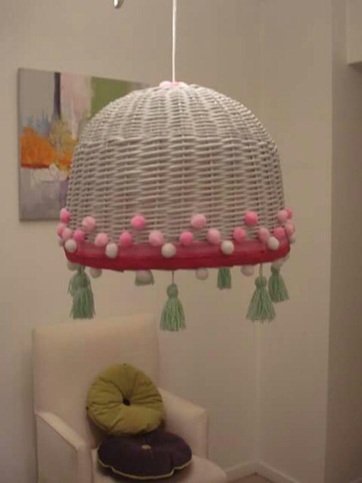 449 best images about lamp weaving on pinterest crochet - Lamparas estilo shabby chic ...