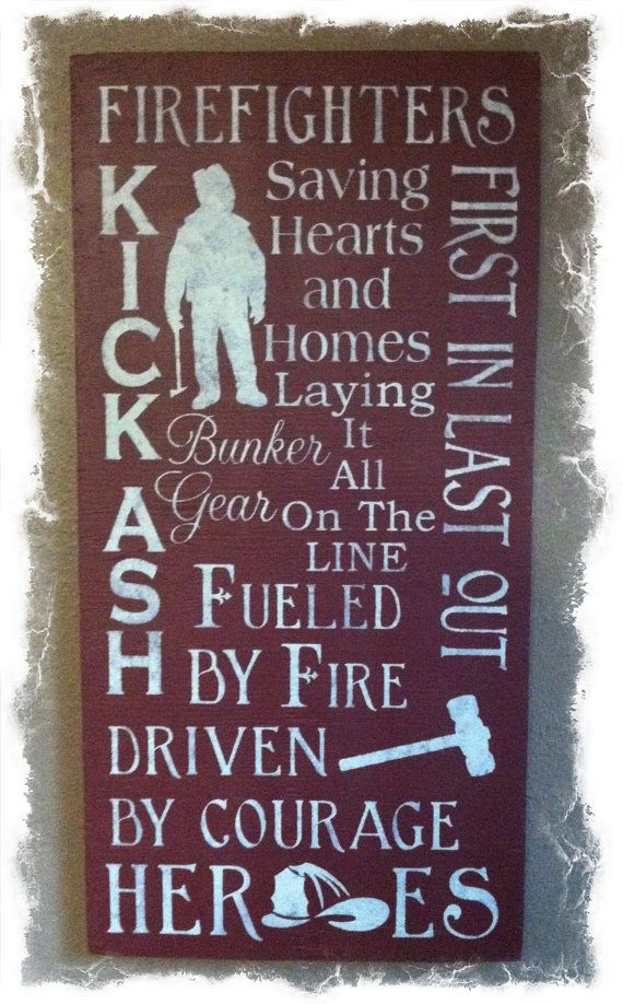 Firefighters Subway Sign Wall Art by ToshasPrimitives on Etsy, $35.00