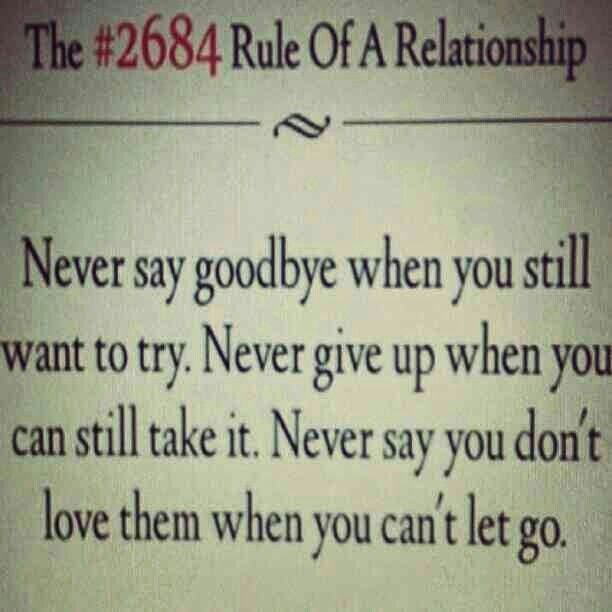 Rules of Relationship