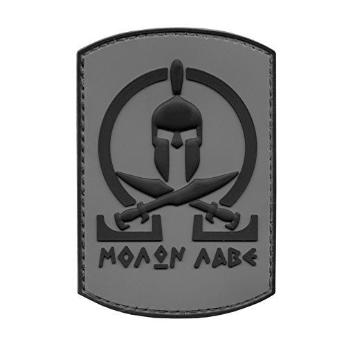 ACU Subdued Spartan Molon Labe Shield Warrior Morale Tactical PVC Gomme 3D Velcro Écusson Patch: Made in soft and washable 3D PVC/rubber…