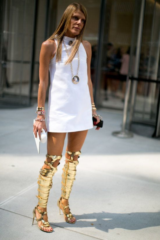 In love with these Tom Ford gladiator boots. Oh, Anna Della Russo. #nyfw