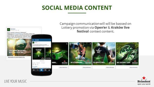 slajd z prezentacji Heineken Live Your Music