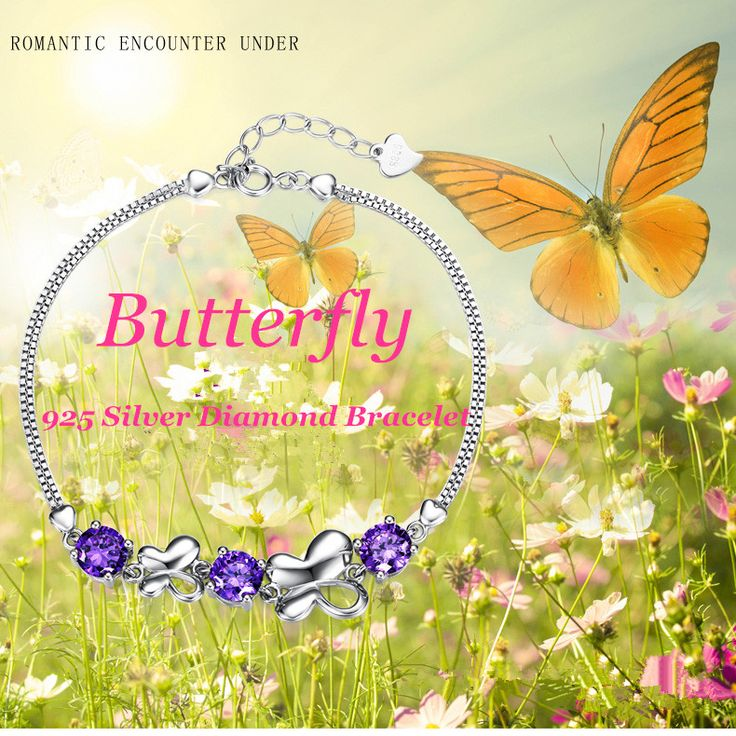 butterfly style diamond bracelet for girls
