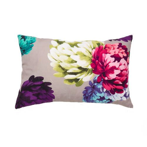 Luxotic Chrysanthemum Beige Cushion Feather Filled