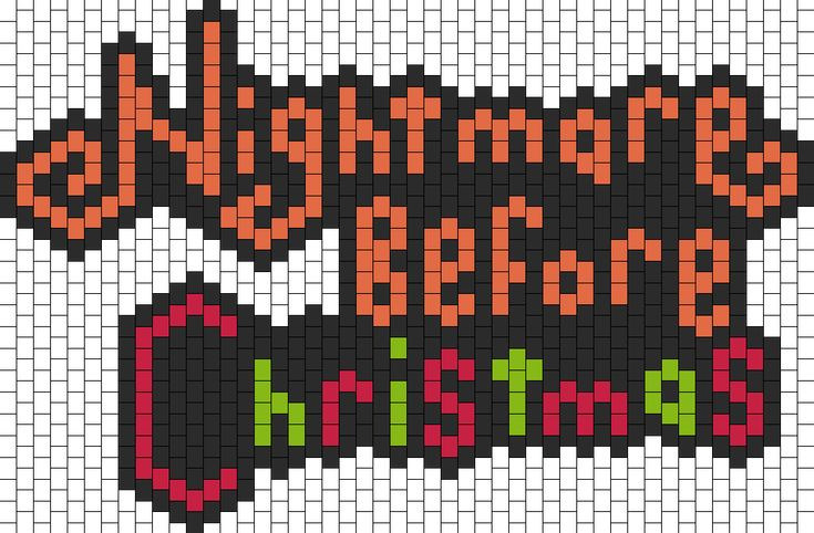 Nightmare Before Christmas bead pattern: Bead Patterns, Beads Patterns, Crochet Graphs