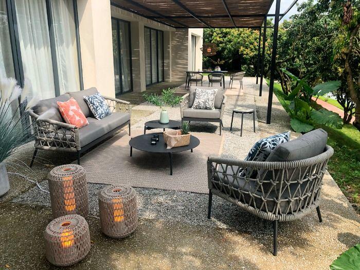 Loungemobel Set Muses Lounge 5tlg Grau Aluminium In 2021 Garten Lounge Mobel Egger Lounge