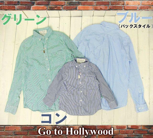 Go to Hollywood 102【14SS】ロンドンストライプ シャツ【メンズ】【子供服ブランド】【RCP】【ゴートゥーハリウッド/Goto Hollywood/GO TO HOLLYWOOD/GoToHollywood/GTH/G2H/デニム&ダンガリー】【宅配送料無料】【楽天市場】