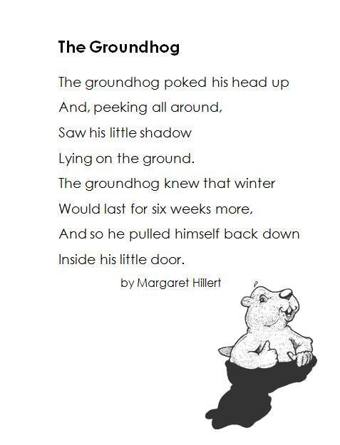 120 best images about K-2 Groundhog Day Ideas on Pinterest | Poem ...