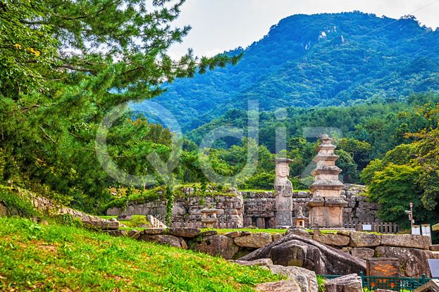 Qdiz Stock Photos | Big Buddha statue with stone monument in Korea,  #antique #architecture #asia #asian #big #Buddha #buddhism #buddhist #culture #day #giant #god #Korea #korean #landmark #monument #national #park #place #religion #religious #sculpture #sky #South #statue #stone #traditional #worship