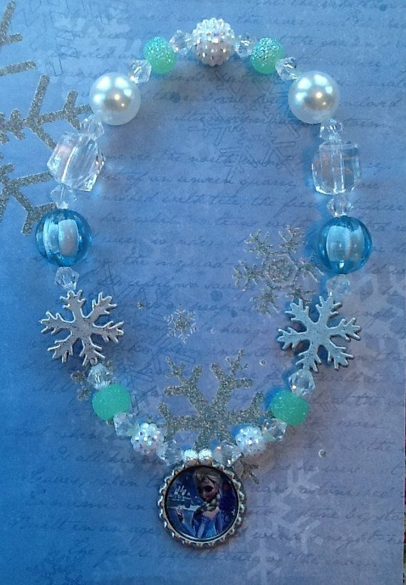 Frozen Elsa Snowflake Stretch Necklace