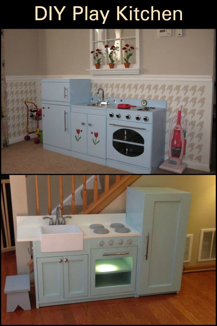 Turn An Old Tv Cabinet Into A Play Kitchen Children S Furniture