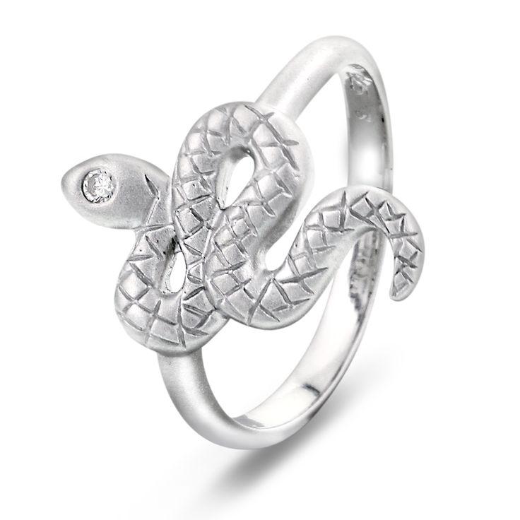 Ring i sølv med zirkonia