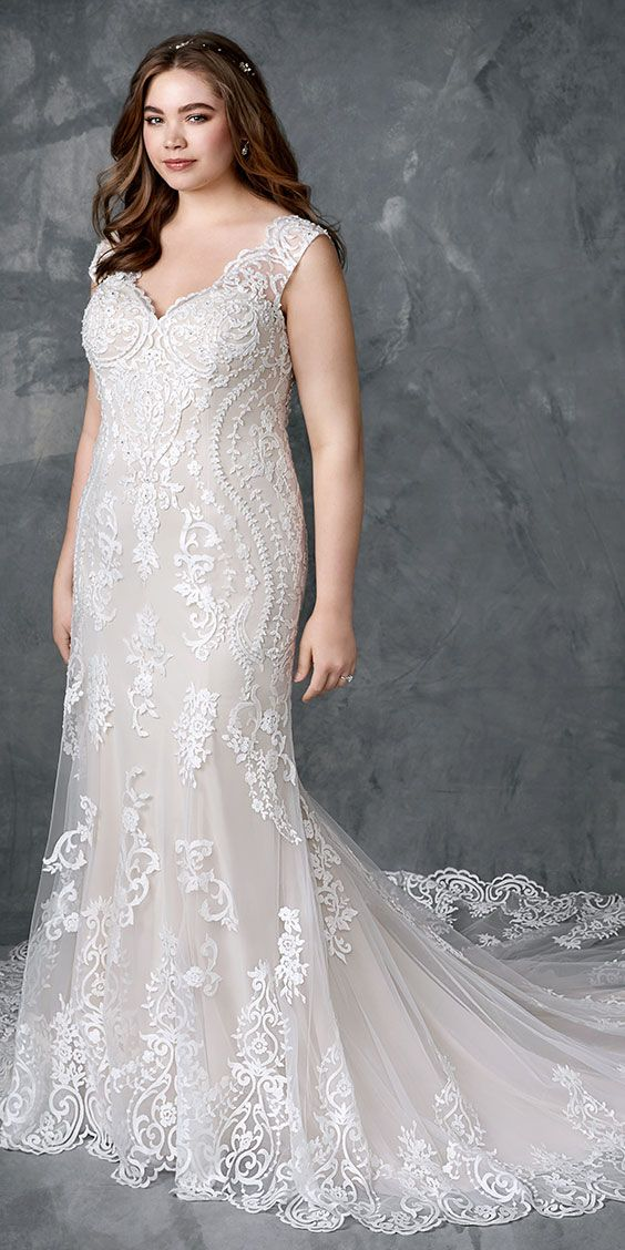 low cost wedding dresses in atlantga%0A Femme by Kenneth Winston        sexy fitted lace gown   with cap sleeves and  low