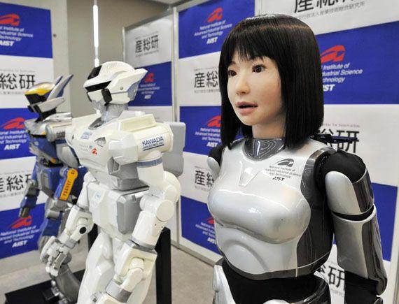 ,es una robot en los avences tecnologicos de japon. ya esta creando robot que puedan expresarse sin nececidad de usar un crontol para manipular dicho robot, ademas de que estan adoptando nostros de humanos y con una celula del cerebro pueden obtener tus recuerdo y hacer exactamento todo lo que nosotros hacemos