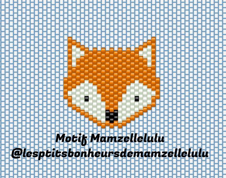 J'enfile des perles et j'assume ! Diagramme de mon Petit renard Tissage brick Stitch perles miyuki