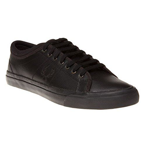 Fred Perry Kendrick Tipped Cuff Leather Herren Sneakers Schwarz - http://on-line-kaufen.de/fred-perry/fred-perry-kendrick-tipped-cuff-leather-herren