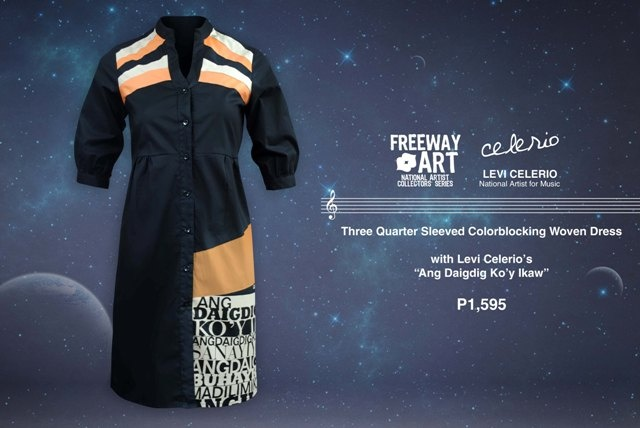 Mandarin Collared Dress with Levi Celerio 'Ang Daigdig Ko'y Ikaw' lyrics