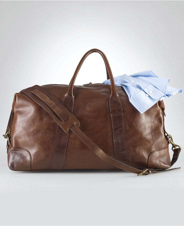Polo Ralph Lauren Bag, Core Leather Duffle Bag - Shop All Polo Ralph Lauren - Men - Macys