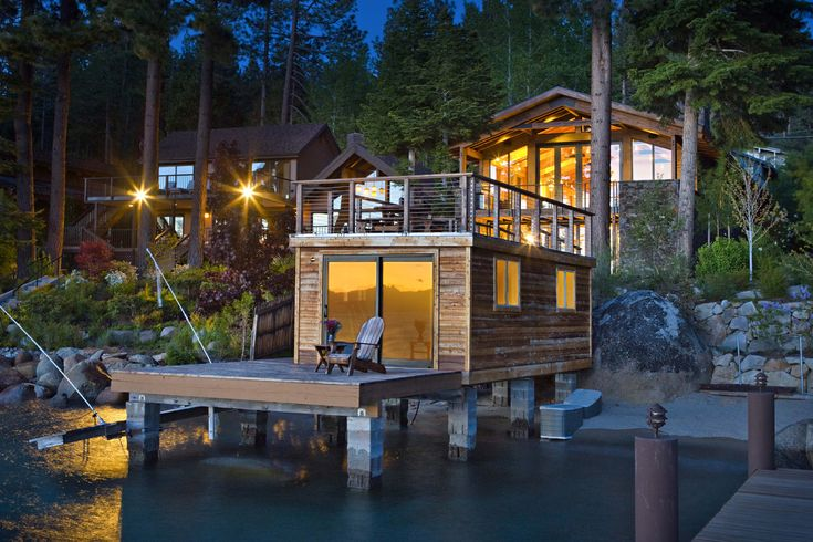 Stunning Glenbrook Nevada Home Has A Pier Boathouse And