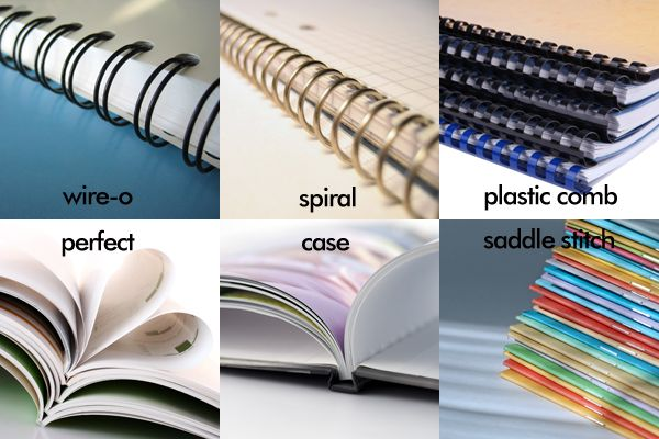 Popular types of binding that impact your work! www.tph.ca ...