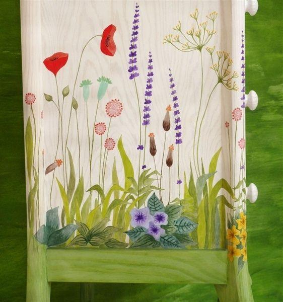 M s de 25 ideas incre bles sobre sillas pintadas a mano en - Armarios pintados a mano ...