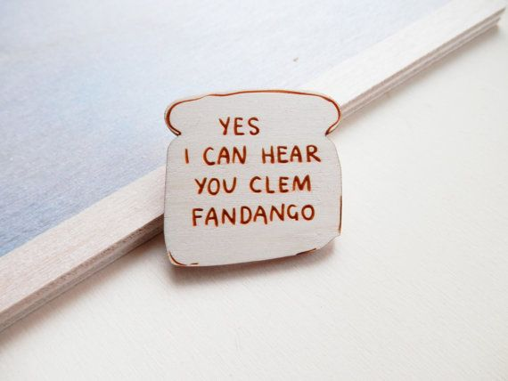 Toast of London Brooch Clem Fandango by kateslittlestore on Etsy
