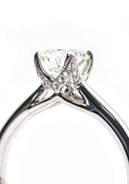 Parade Designs Hemera 80ct G Si1 Round Diamond Solitaire Semi Mount Ring