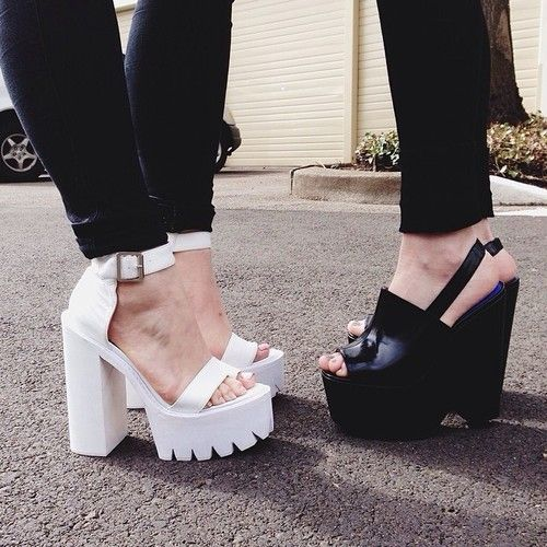 Chunky White Platforms | Everyday Escapism Chunky Platforms are my latest favourite fashion trend <3