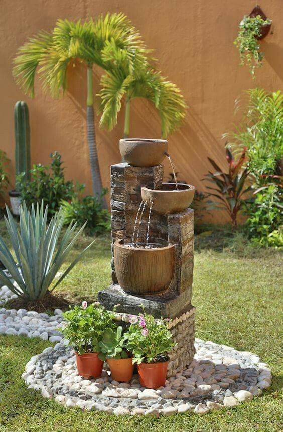 Fountain. Backyard Landscape DesignBackyard ...