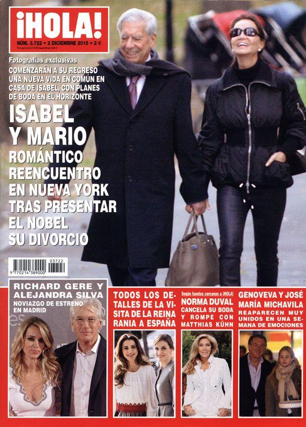 En ¡HOLA!, Isabel Preysler y Mario Vargas Llosa, romántico reencuentro en Nueva York tras presentar el Nobel su divorcio