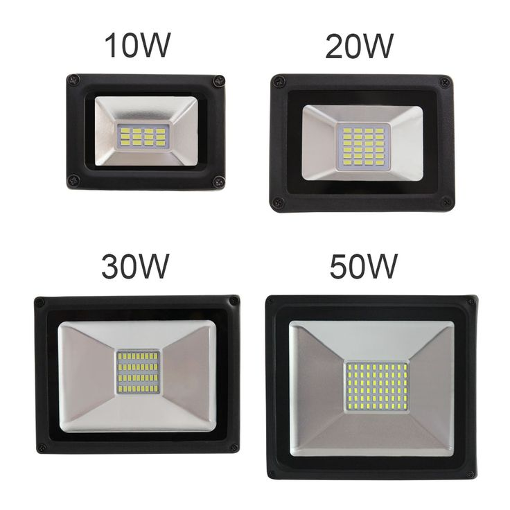 Conscience aluminum enclosure to ensure heat Strong waterproof outdoor lamp IP65 floodlight lamp 10W 20W 30W 50W AC176-264V